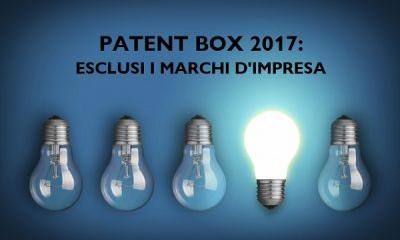 Patent box. Dal 2107 esclusione marchi